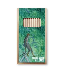 TOULOUSE-LAUTREC WOODEN COLOR PENCIL CASE