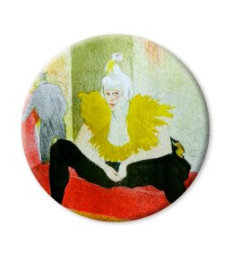 LA CLOWNESE ASSISE MIRROR|TOULOUSE-LAUTREC MIRROR