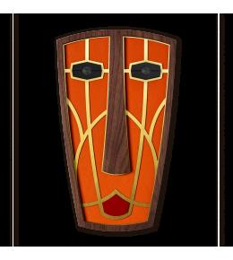 MASCARA AFRICANA DORADA