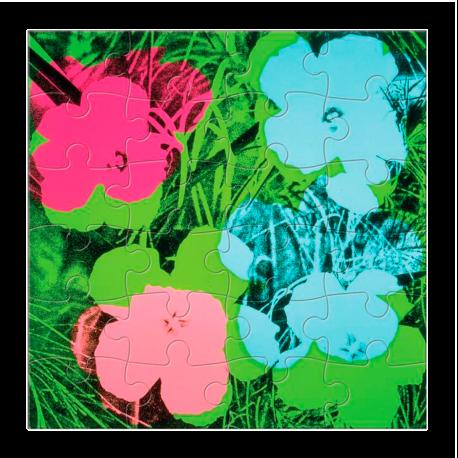 PUZZLES DE MADERA FLOWERS WARHOL|PUZZLE FLOWERS WARHOL