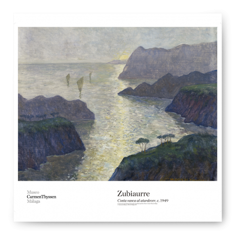 BASQUE COAST AT DUSK POSTER