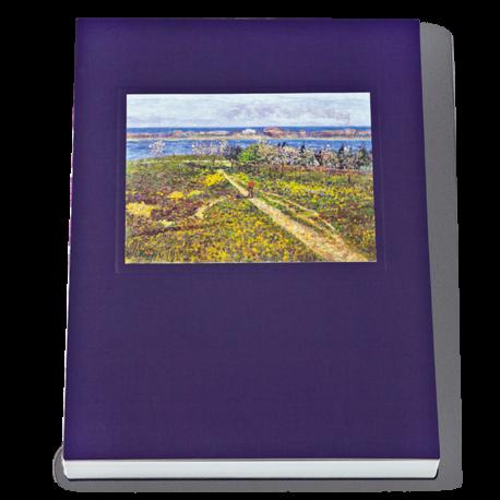 ALMOND TREES IN BLOSSOM STITCH-BOUND NOTEBOOK