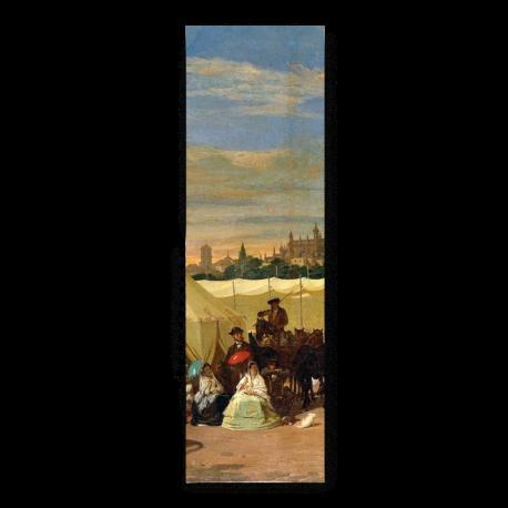 PUNTO DE LIBRO LA FERIA DE SEVILLA 1867